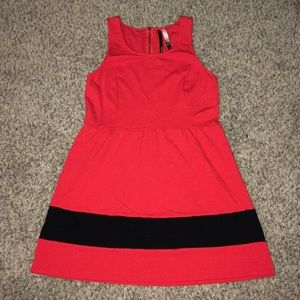 Pretty red and black dress